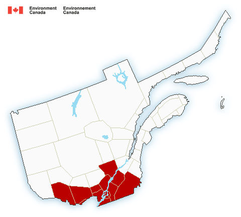 Map of Quebec - south